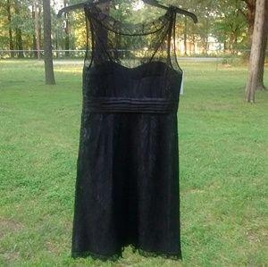Moulinette Soeurs Dresses - Moulinette Souers sz 6 Black Lace Grey Slvls Dress